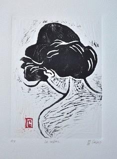 (c) Confais 2017 - La Coiffure - Gravure sur Bois - tirage 40 x 50 en 7 exemplaires numérotés et signés
