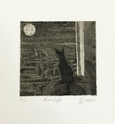 (c) Confais  - Moonlight - Eau forte- etching - 20x20