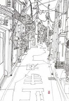(c) Confais 2013 - Encre sur papier - 30x40 - Miyajima