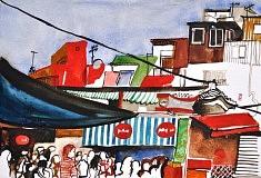 (c) Confais 2013 - Aquarelle et encre sur papier - 30x40 - Tokyo Asakusa