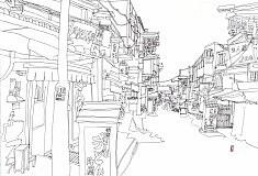 (c) Confais 2013 - Encre sur papier - 30x40 - Tokyo Asakusa