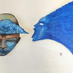 (c) Confais 2020 - Anima - acrylique sur toile 50x70