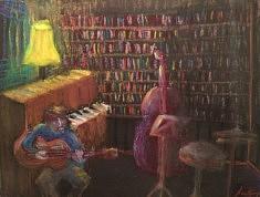 Concert à la Goutte d'Or - 50x32 - pastel gras - 2016