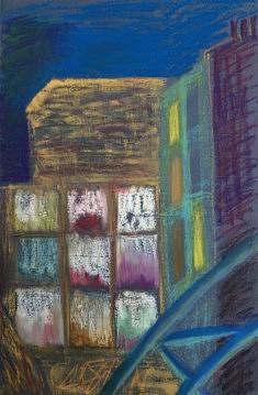 Immeuble en démolition : les entrailles (2) - 50x32 - Pastel gras - 2015