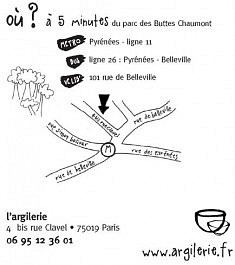 L'Argilerie, 4 bis rue Clavel, Paris 19è