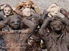 """""""Les Agenouillés"""" une exposition de Pascale Coutant et Delphine Moulier, 29-30 mai 2021"""