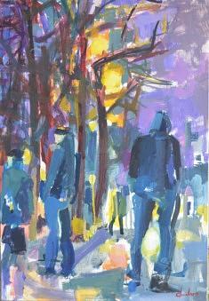 Crépuscule d'hiver                      huile sur toile 110 x 74,5