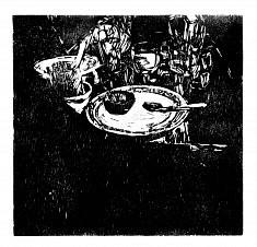 Clair-osbscur #2 • gravure sur bois • 50x40 cm • 2017