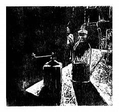 Clair-osbscur #3 • gravure sur bois  • 50x40 cm • 2017