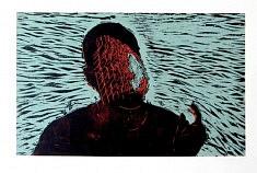 Emprisonnement - Imprisonment • gravure sur bois • 50x70cm