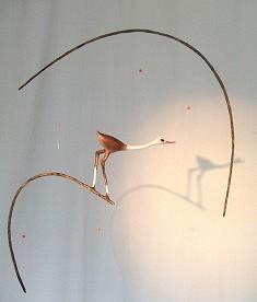 L'oiseau brun, hauteur : 50 cm