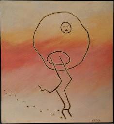 """"""" Esprit échelle"""" peinture acrylique sur toile 80x86cm"""