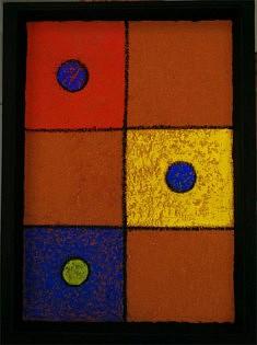 """""""Jouet"""" pigments liant acrylique sur carton 16x20cm"""