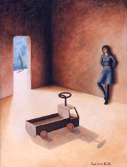 """""""Le petit camion"""" acrylique sur toile, 160x120 cm"""