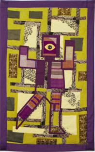 """Cyclope"", art textile, 0.90x1.10 m"