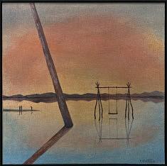 """""""Espejo del salar"""" acrylique 30x30 cm, 2020"""