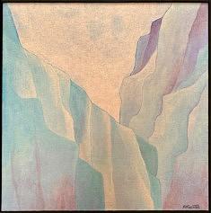 """Glacial"", acrylique 30x30 cm, 2020"