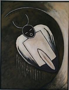 """""""Graine de maïs """" acrylique sur toile 50x65cm"""