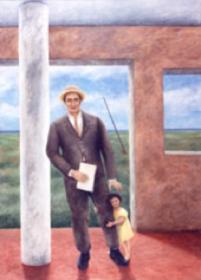 """""""Le pilier"""", acrylique sur toile, 200x140 cm"""