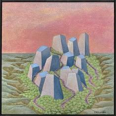 """Monolythes"" acrylique 30x30 cm, 2020"