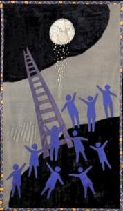 """""""Pain de lune"""", art textile, 2.80x1.40 m"""