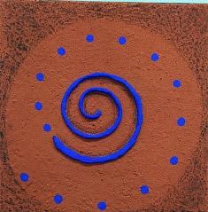 """"""" Spirale"""", toile 20x20 cm"""