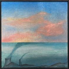 """Subacqua"", acrylique 30x30 cm, 2020"