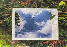 Méridienne, Le vieux ciel, papier Unryu 21x15