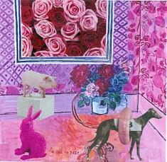 Trois bêtes dans la chambre rose