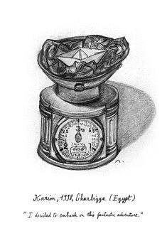 """Karim. Illustration pour le livre """"Centocelle Melting Pot"""""""