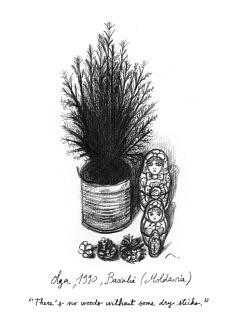 "Olga. Illustration pour le livre ""Centocelle Melting Pot"""