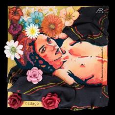 Venere, , résine, incrustations et acrylique sur toile, 50x50, 2021, Paris
