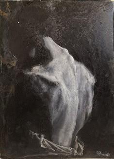Rottura, Anastasia, résine, huile sur toile, 70x50, 2019, Paris