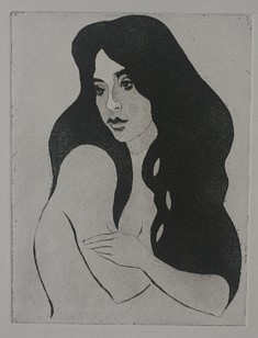 Arabesque, Eau forte et aquatinte, 19,5 X 15 cm