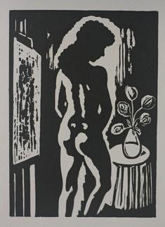 Matin, Linogravure, 21 X 15 cm