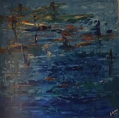 A kind of blue : acrylique sur toile, 1mx1m