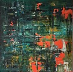 Deep in my heart, acrylique et huile sur toile, 1MX1M