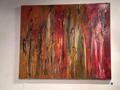 foule2 :huile sur toile 40 x 60 cm