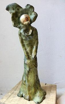Rêves brisés - Série des femmes à la boule d'or (bronze à la cire perdue - hauteur 13 cm)