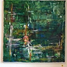 virgin lake, acrylique sur toile, 40 x 40 cm