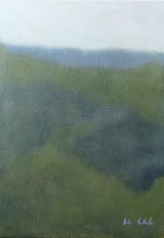 Paysage, Verdon, acrylique sur toile, 33 x 46 cm.
