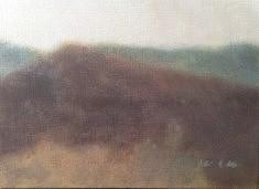 Paysage, Verdon, acrylique sur toile, 22 x 33 cm.