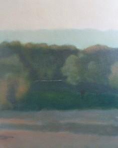 Matin, Loiret, acrylique sur toile, 65 x 81 cm.