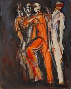 Danse, huile sur toile