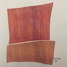 Cal 27/04/20 Feutre et roller 0,4 mm sur papier à grain 21x21 cm
