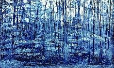 détail Himmelpforter Tör 1/ aquatinte / tirage monochrome, bleu de prusse