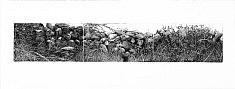 """""""Suite Galway gates I """" Aquatinte sur zinc, Suite de trois plaques tirées sur papier pescia et bfk rives à 10 exemplaires  Format plaque : 12,5 x 22 cm"""