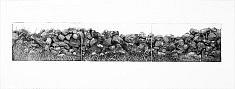 """""""Suite Galway gates III """" Aquatinte sur zinc, Suite de trois plaques tirées sur papier pescia et bfk rives à 10 exemplaires  Format plaque : 12,5 x 22 cm"""