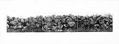 """""""Suite Galway gates II """" Aquatinte sur zinc, Suite de trois plaques tirées sur papier pescia et bfk rives à 10 exemplaires  Format plaque : 12,5 x 22 cm"""