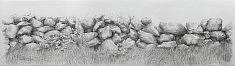 triptyque à la tête de chien1-2-3 • mine graphitesur papier laurier 3x70x100